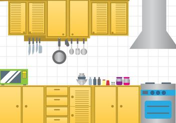 Modern Kitchen Vector - vector gratuit #147941