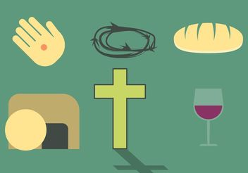Religious Easter Set - vector gratuit #147961