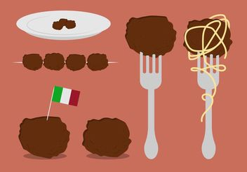 Free Meatball Vector Set - бесплатный vector #147971