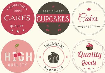 Vector Bakery Labels - vector gratuit #147991