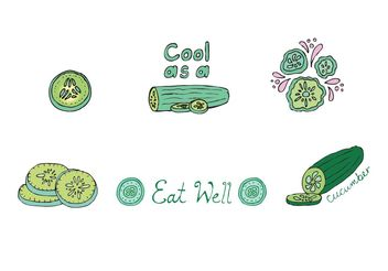 Free Cucumber Vector Series - бесплатный vector #148001