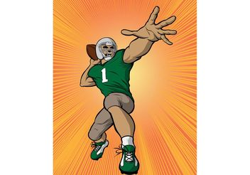 Football Quarterback Vector - Free vector #148051