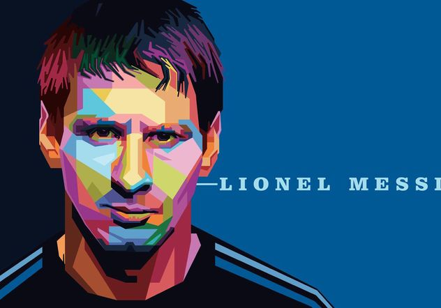 Lionel Messi Vector Portrait - Free vector #148101