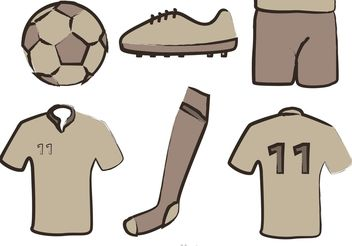 Soccer Equipment Vectors - vector gratuit #148131