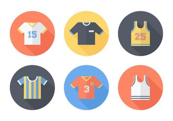 Free Sports Jersey Vector Icons - Kostenloses vector #148161