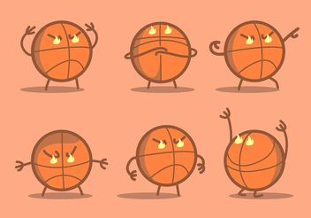 Angry Basketball Vector - бесплатный vector #148181