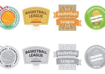 Basketball Vector Logos - бесплатный vector #148191