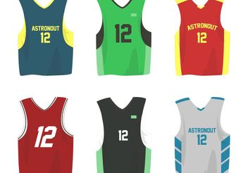Basketball Sports Jersey Vectors - vector gratuit #148211