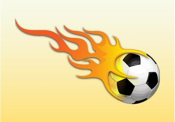 Soccer Ball On Fire - vector gratuit #148261