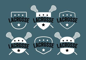 Lacrosse Label Vector Set - Free vector #148321