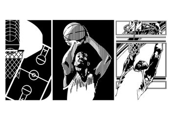 Basketball Vectors - vector gratuit #148371