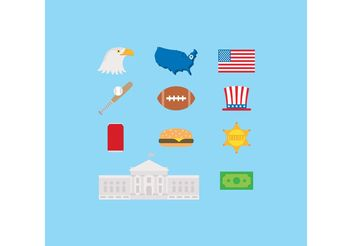 Made In USA Vector Icons - бесплатный vector #148381
