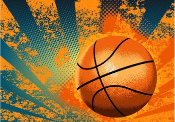 Grunge Basketball Background - vector gratuit #148391