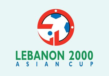Asian Cup Lebanon - vector gratuit #148491