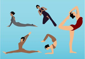 Yoga Poses - vector gratuit #148531