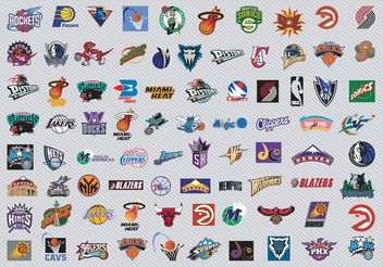 NBA Team Logos - vector #148541 gratis