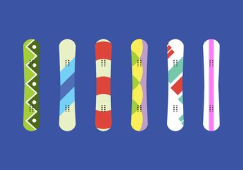 Snowboard Isolated Vectors - vector gratuit #148591