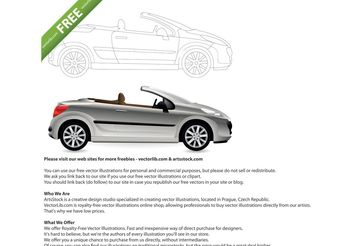 Convertible. Cabriolet Car. - Free vector #148601