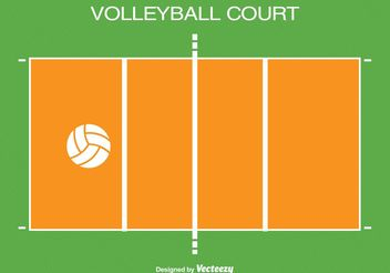 Volleyball Court iIllustration - vector gratuit #148621