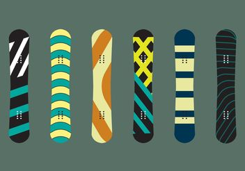 Snowboard Isolated Vectors - vector gratuit #148631