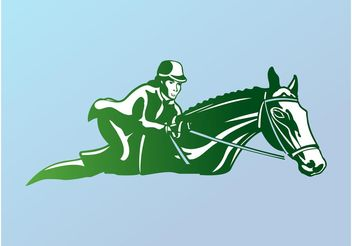 Horse Riding Logo - Free vector #148751