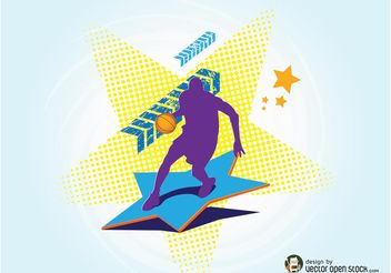 Basketball Player - vector gratuit #148781