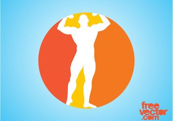 Bodybuilder Icon Graphics - Free vector #148841