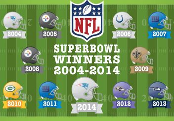 Superbowl Winner Vectors - Kostenloses vector #148871