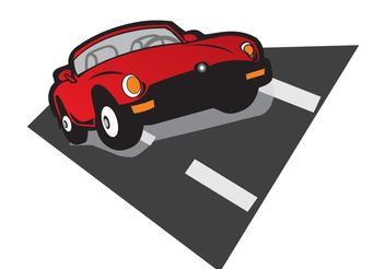 Speed - Red Car Vector - Kostenloses vector #148881