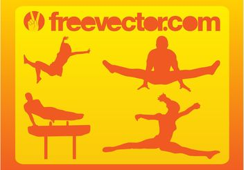 Jumping People Vector - Free vector #149071