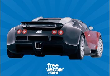 Bugatti Veyron Rear End - vector gratuit #149121