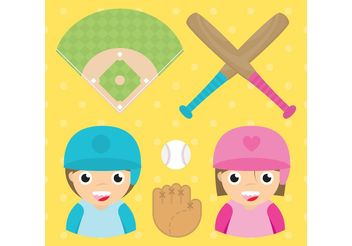 Baseball Vector Set - Free vector #149141