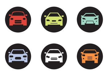 Black Car Front Silhouettes - бесплатный vector #149151