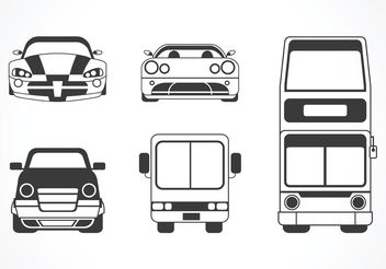 Free Vector Car And Bus Silhouette - Free vector #149171
