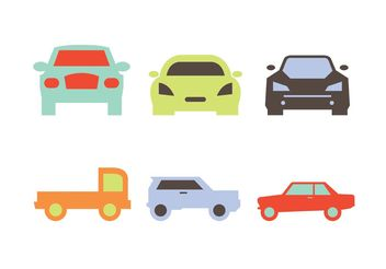 Car Front Silhouettes Vectors - Free vector #149181