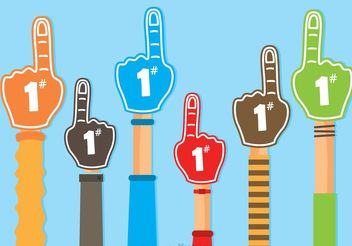 #1 Foam Finger Vectors - бесплатный vector #149191