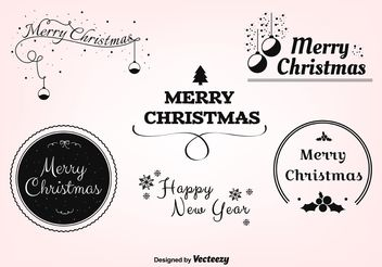 Free Christmas Vector Labels - бесплатный vector #149251