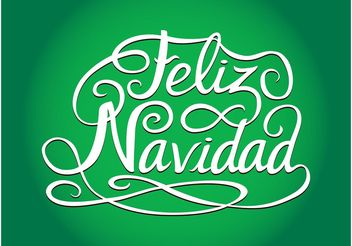 Spanish Christmas Greetings - vector #149281 gratis