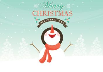 Free Vector Snowman Christmas Background - Free vector #149321