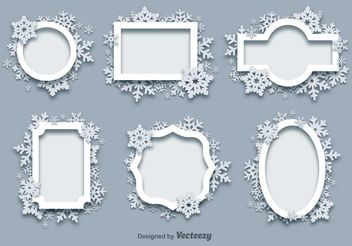 Winter Snow Frames - Free vector #149331