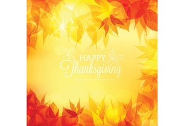Free Vector Thanksgiving Bokeh Background - Free vector #149341
