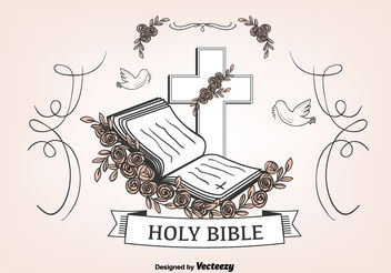 Open Bible Background - vector gratuit #149421
