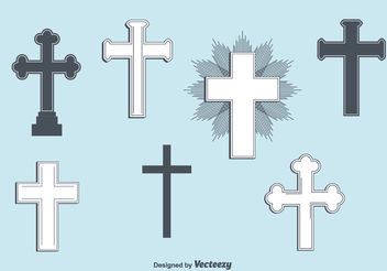 Set of Vector Crosses - Free vector #149441