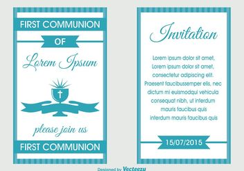 First Communion Invitation - бесплатный vector #149491