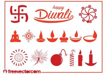 Diwali Graphics Set - Free vector #149571