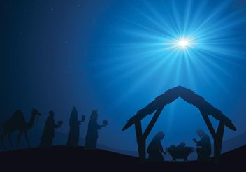 Free Manger Scene Vector Background - vector gratuit #149631