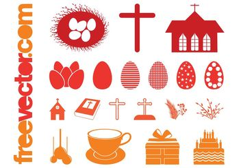 Easter Silhouettes Set - vector #149651 gratis