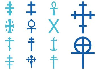 Crosses Pack - vector gratuit #149661