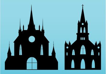 Churches Vectors - vector #149701 gratis
