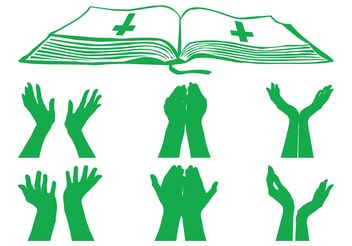 Praying Hands Graphics - vector #149721 gratis